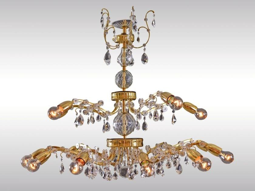 Classic style chandelier MAGNIFICENT LOBMEYR CHANDELIER 1960 by Woka Lamps Vienna