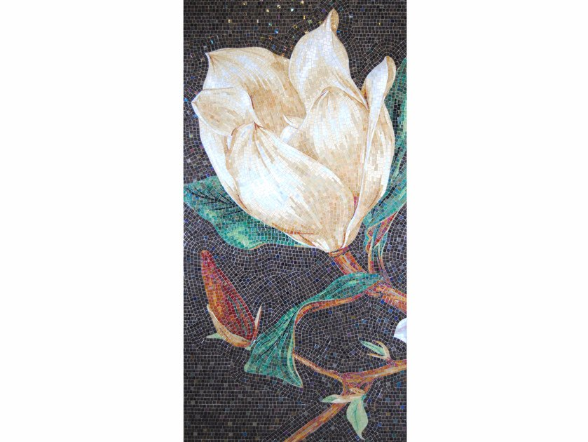 Stained glass mosaic MAGNOLIA A by FRIUL MOSAIC