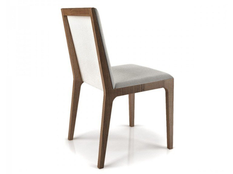 Beech and fabric chair MAGNOLIA | Chair by Huppé