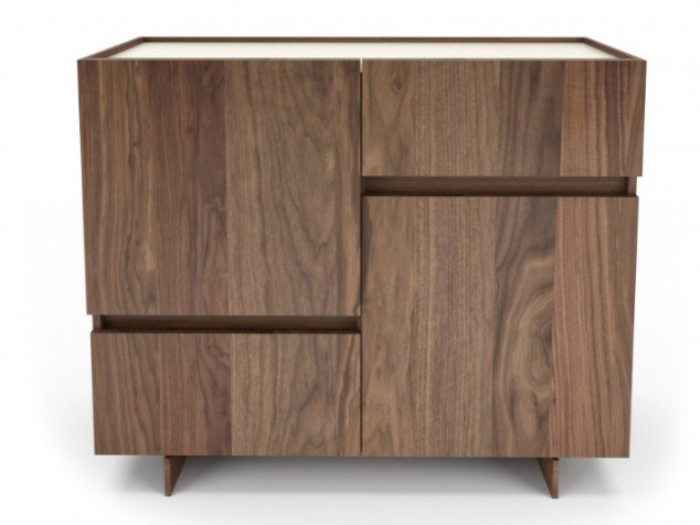 Walnut highboard with doors with drawers MAGNOLIA | Highboard by Huppé