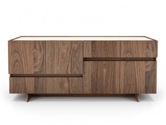 Walnut sideboard with doors with drawers MAGNOLIA | Sideboard by Huppé