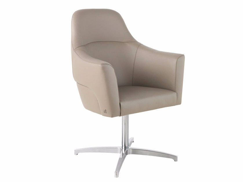 Executive chair with 4-spoke base MAGNUM LOW by Smania