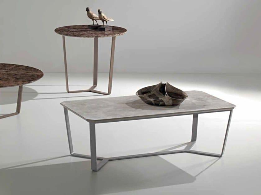 Contemporary style rectangular stainless steel coffee table MAGOO   Rectangular coffee table by International Marmi