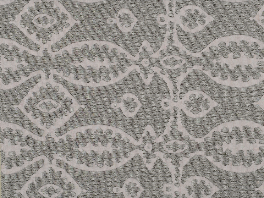 Jacquard cotton and wool fabric with graphic pattern MAHTMA by KOHRO