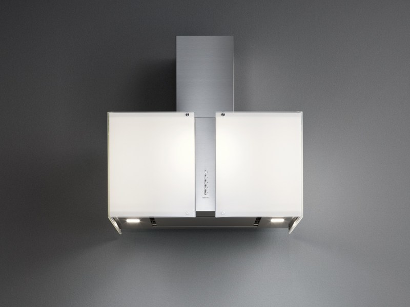 Wall-mounted glass and steel cooker hood MAIA by Falmec