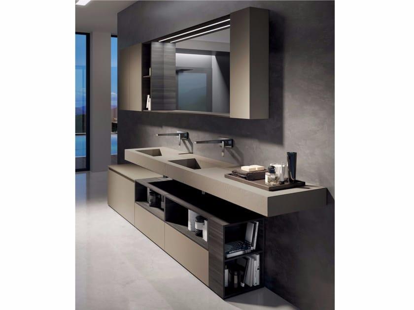 Bathroom cabinet / vanity unit MAKE 02 by LASA IDEA