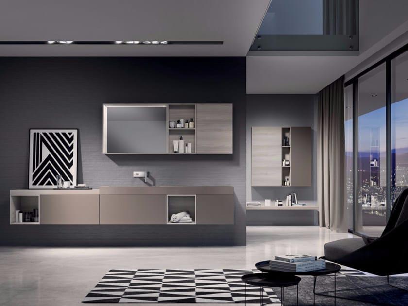 Bathroom cabinet / vanity unit MAKE 03 by LASA IDEA