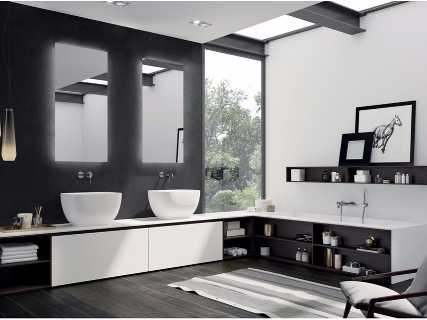 Bathroom cabinet / vanity unit MAKE 06 by LASA IDEA