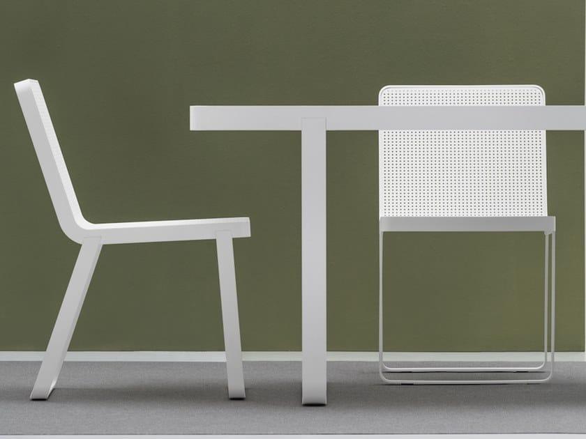 Sedia da giardino in alluminio MAKEMAKE | Sedia by Terraforma