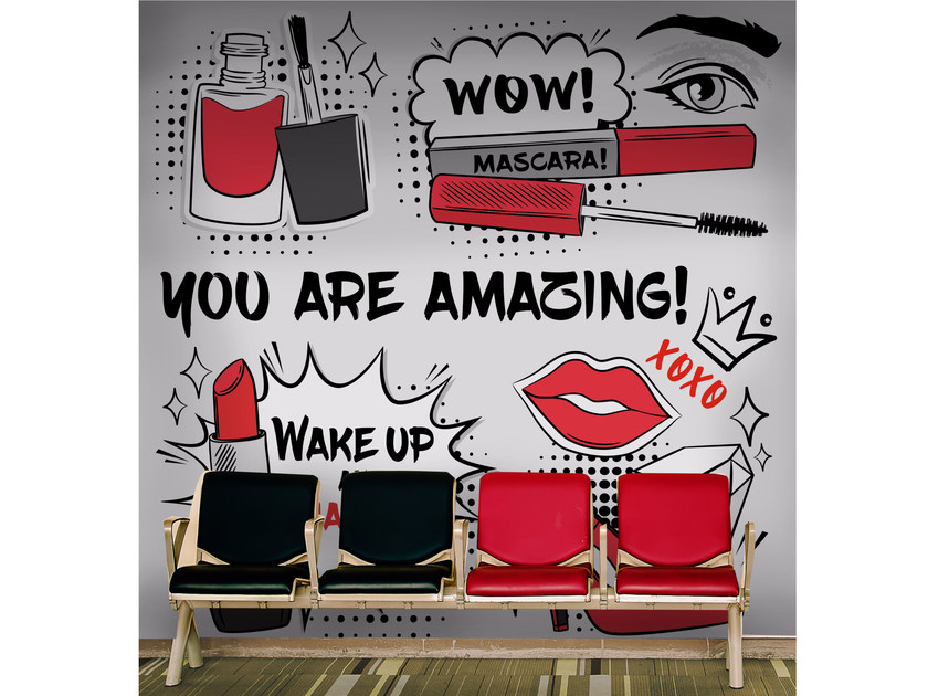 Adhesive washable pop art wallpaper MAKEUP by Wall LCA