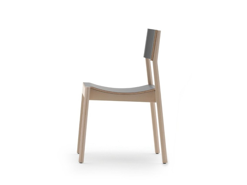 Stackable chair MAKI 03715 by Montbel