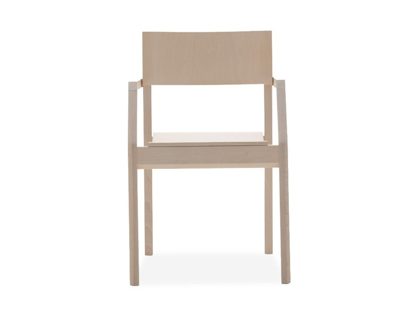 Stackable chair with armrests MAKI 03721 by Montbel