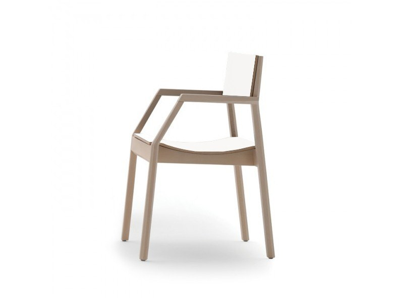 Stackable chair with armrests MAKI 03724 by Montbel