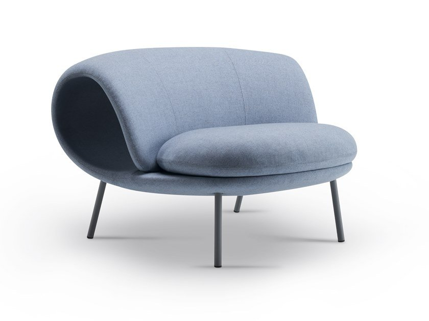 Modular fabric bench seating with back MAKI by Offecct