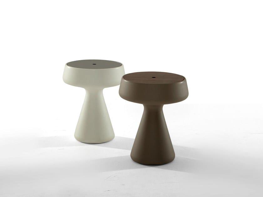 Polyethylene coffee table with storage space MAKI by Tonin Casa
