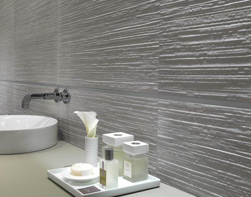 White-paste 3D Wall Tile MAKU | 3D Wall Cladding by FAP ceramiche