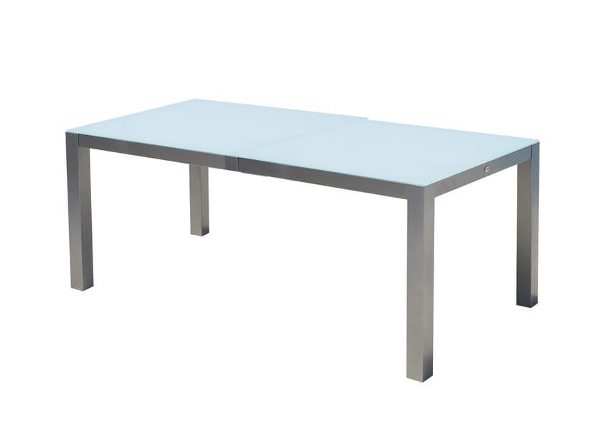 Tavolo da giardino rettangolare in alluminio e vetro per contract MALDIVES 22988 by SKYLINE design
