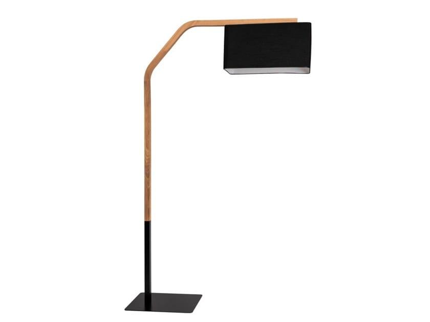 Wooden floor lamp MALI | Floor lamp by Flam & Luce