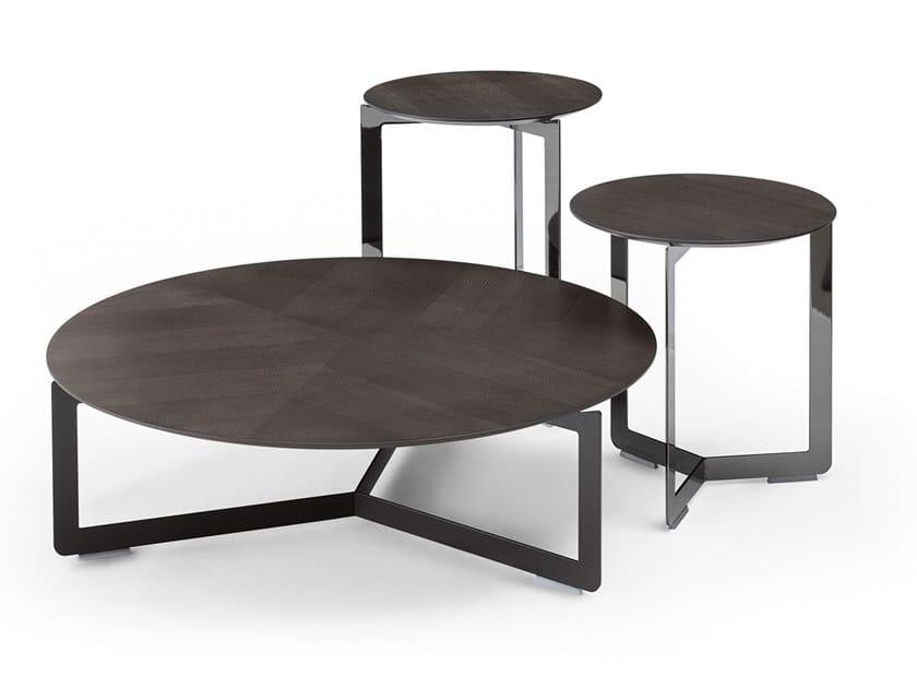 Mesa de centro redonda de madeira multi-camada MALIBÙ   Mesa de centro de madeira multi-camada by Dema