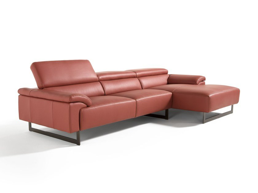 Sectional Sofa With Chaise Longue MALIKA | Sectional Sofa By Egoitaliano