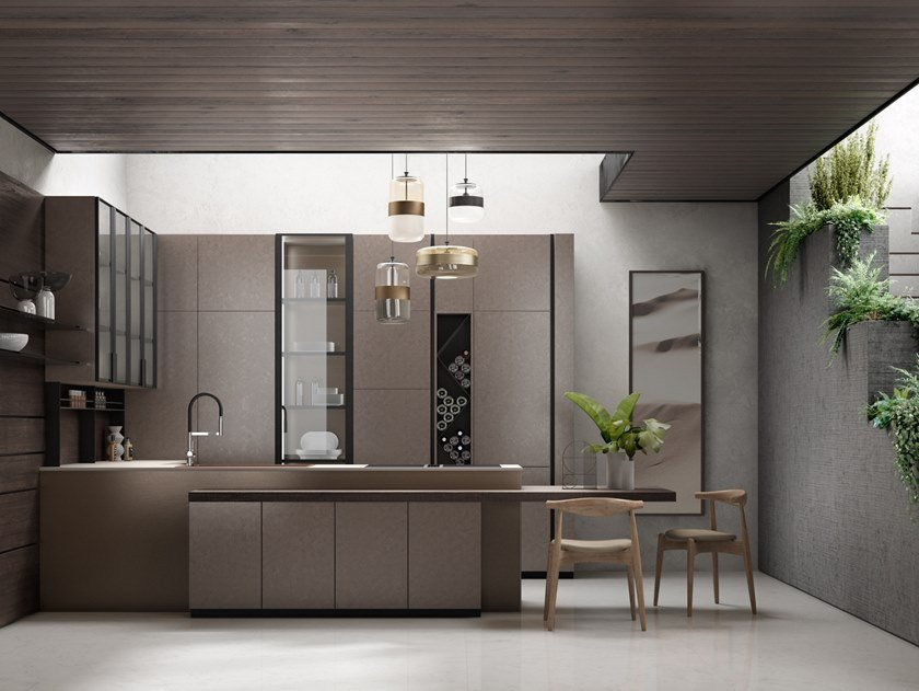 Kitchen with peninsula ARES | Kitchen with peninsula by Floritelli Cucine