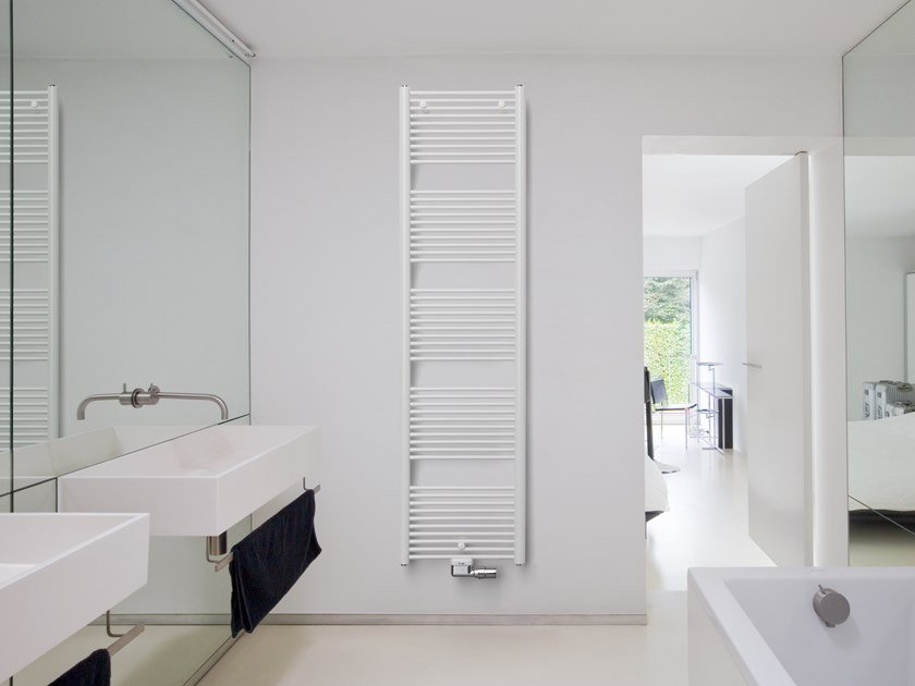 Wall-mounted steel towel warmer MALVA by VASCO