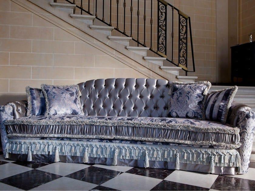 Tufted 4 seater sofa bed MALVINA CAPITONNÉ | 4 seater sofa by Domingo Salotti