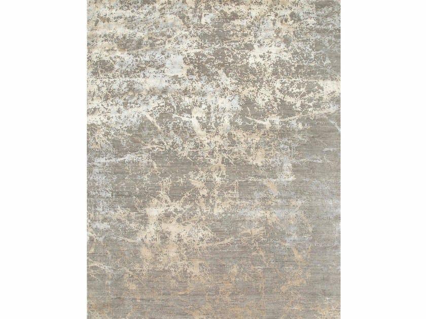 Patterned rug MAMI WATA ESK-411 Medium Gray/White Sand by Jaipur Rugs
