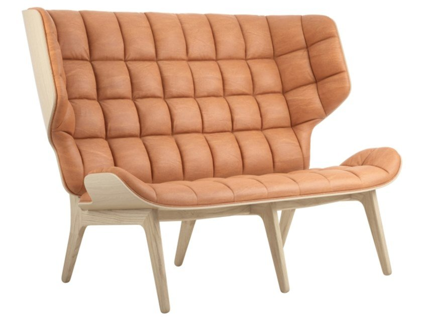 Tufted 2 seater leather sofa MAMMOTH | Leather sofa by NORR11