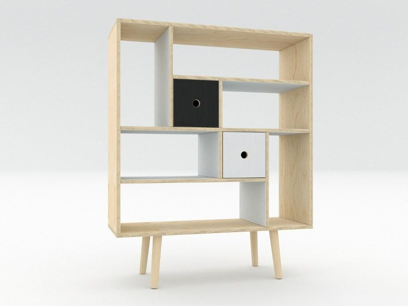 Plywood bookcase MAN | Bookcase by Radis