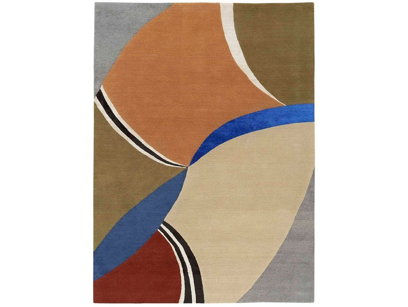 Hand knotted rug in tibetan wool and chinese silk MANDARIN by Deirdre Dyson