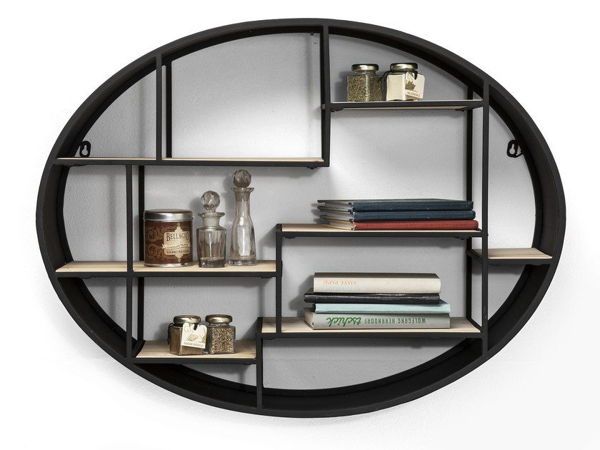 Wall-mounted iron bookcase MANEGE ROUND by KARE-DESIGN