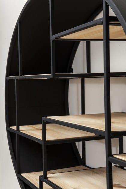 Libreria a parete in ferro manege round by kare design for Mobili kare design