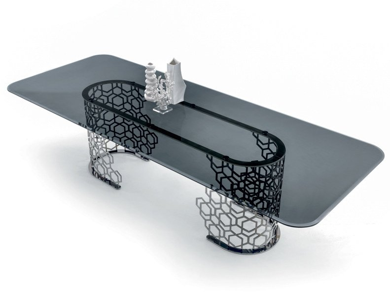 Rectangular crystal table MANFRED   Rectangular table by Longhi