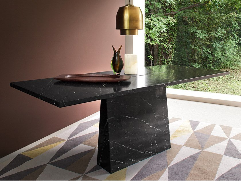 Rectangular marble table INCAS | Marble table by Agapecasa