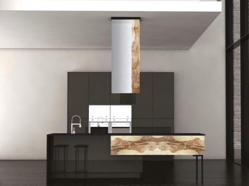 Wooden kitchen with island MANHATTAN by HEBANON