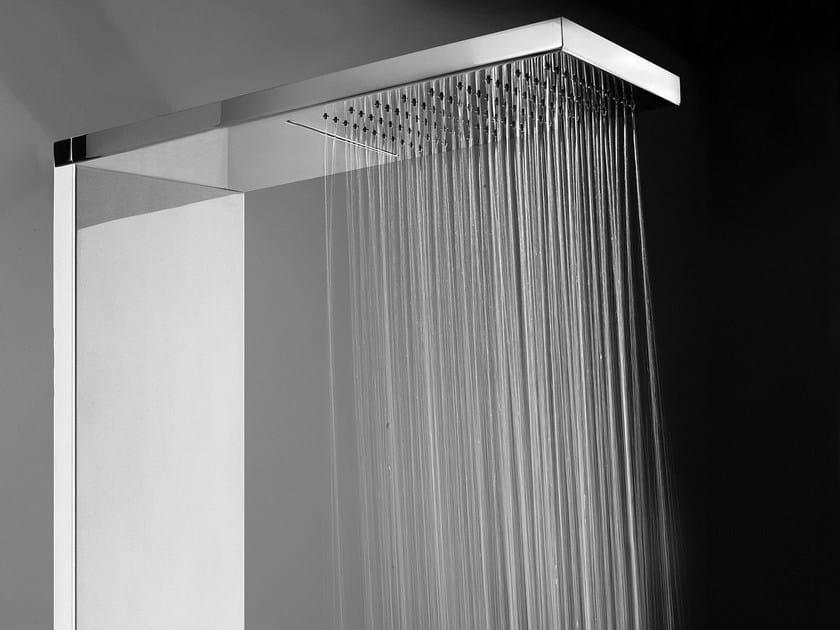 Colonna doccia a parete termostatica con doccetta manhattan