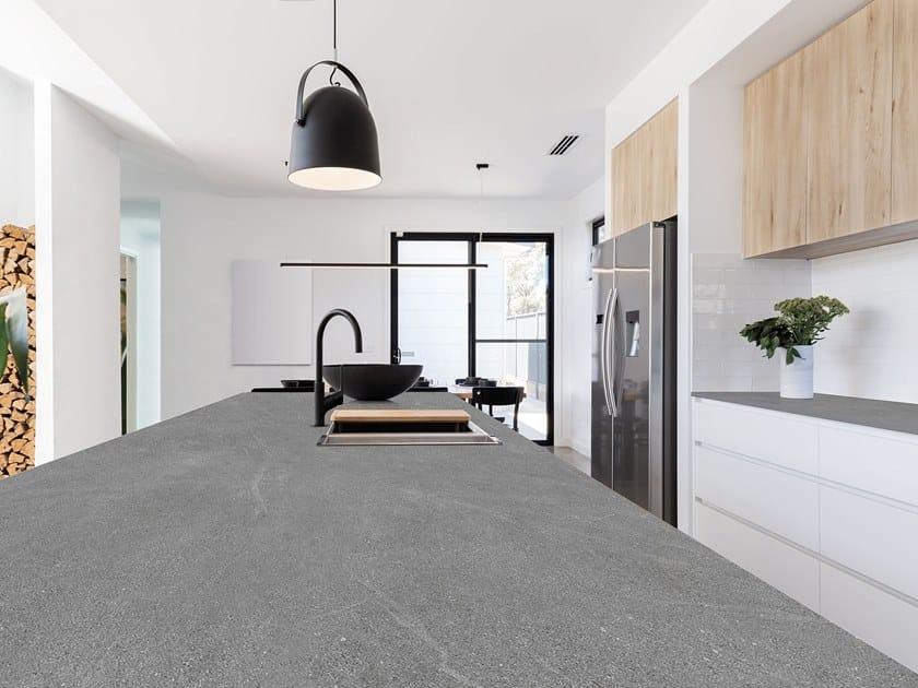 Sintered ceramic kitchen worktop with stone effect MANHATTAN | Sintered ceramic kitchen worktop by ITT Ceramic