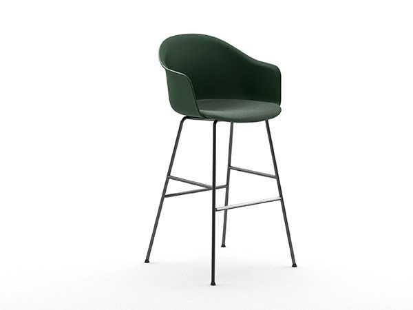 High polypropylene stool with footrest MÁNI ARMSHELL PLASTIC+f ST-4L/ns by arrmet