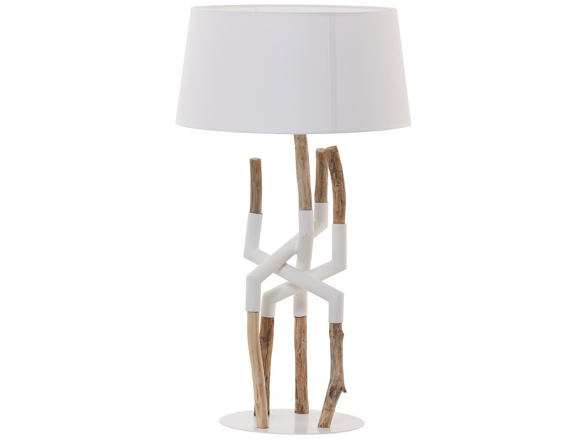 Wooden table lamp MANILA by Flam & Luce