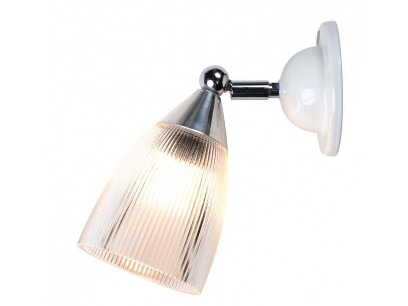 Lampada da parete orientabile in vetro con dimmer MANN PRISMATIC by Original BTC