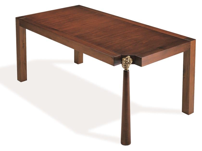 Rectangular cherry wood table MANTENUTO | Rectangular table by Mirabili