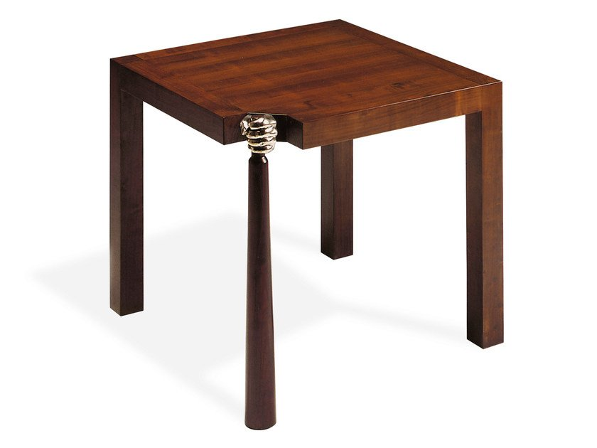 Square cherry wood table MANTENUTO | Square table by Mirabili