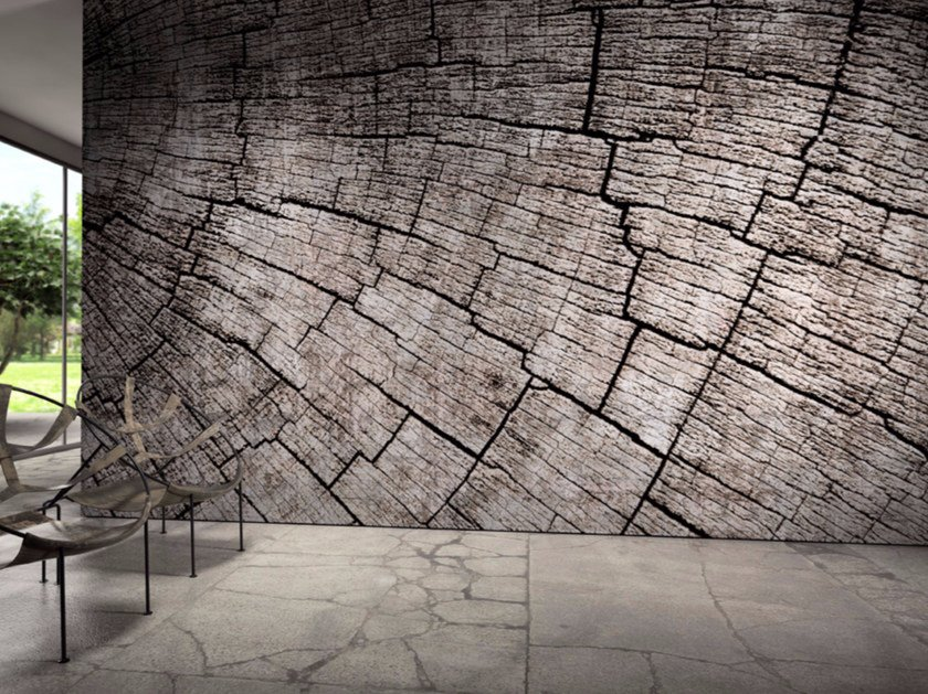 Wood effect vinyl wallpaper MANTIS by GLAMORA
