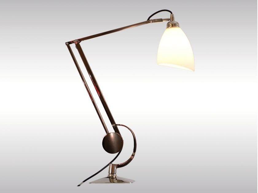 With swing arm desk lamp MANTODEA | Desk lamp by Woka Lamps Vienna