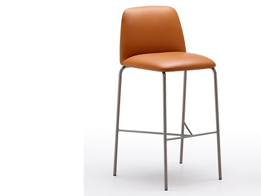 Mantra sgabello in pelle collezione mantra by ronda design