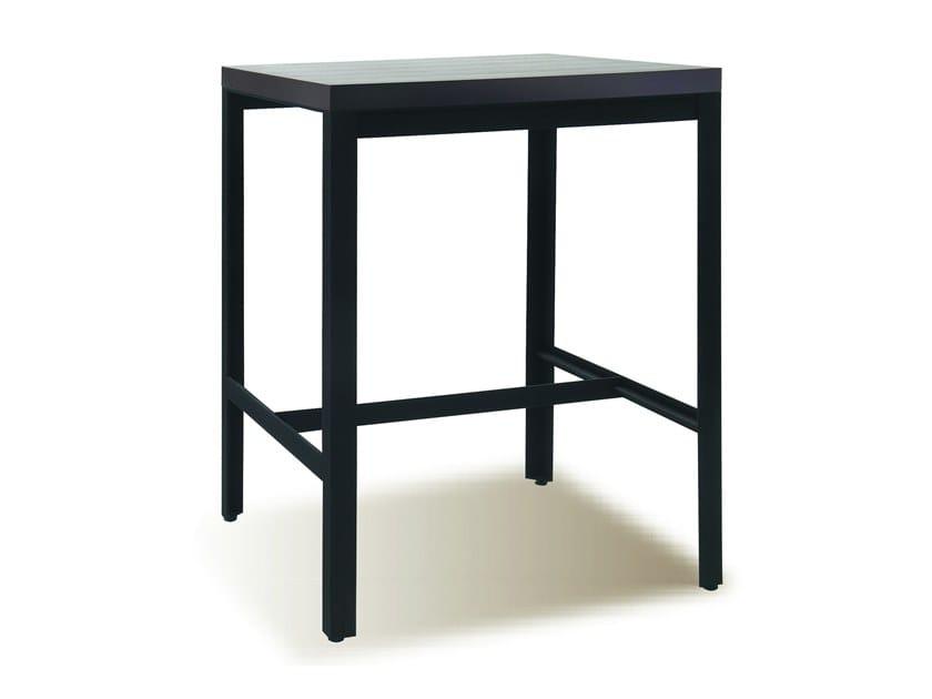Wood veneer high table MANU 11 by Manganèse Éditions