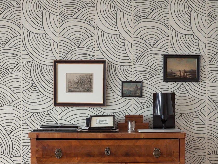 Fire retardant Digital printing wallpaper MANY LINES by NANNI GIANCARLO & C.