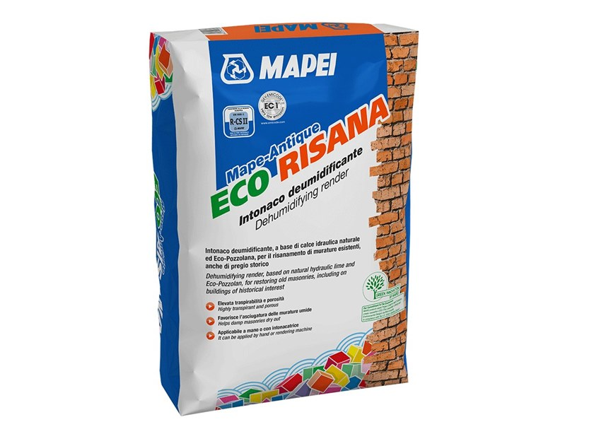 Mortar and grout for renovation MAPE-ANTIQUE ECO RISANA by MAPEI