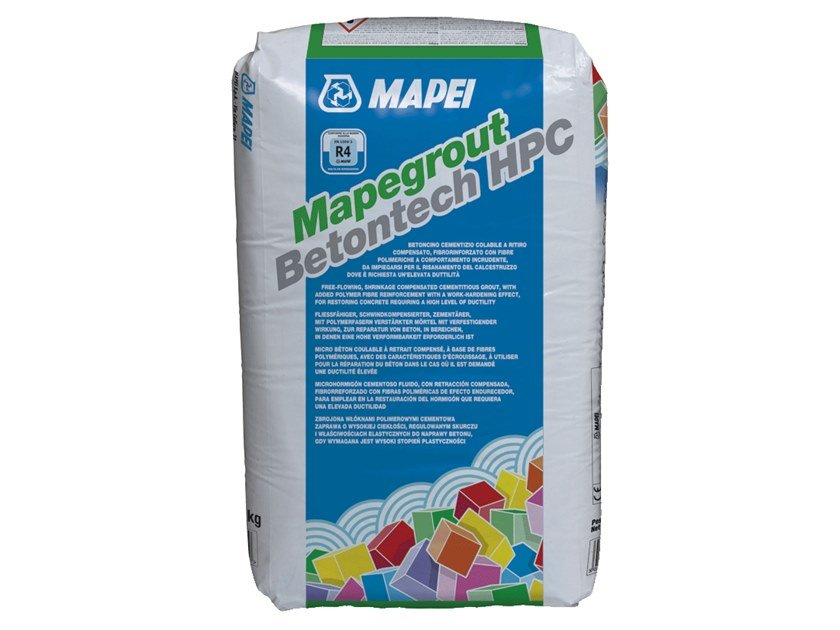 Renovation mortar and grout for renovation MAPEGROUT BETONTECH HPC by MAPEI